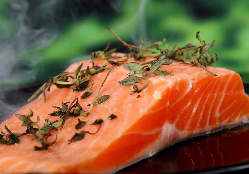 salmon with herbs