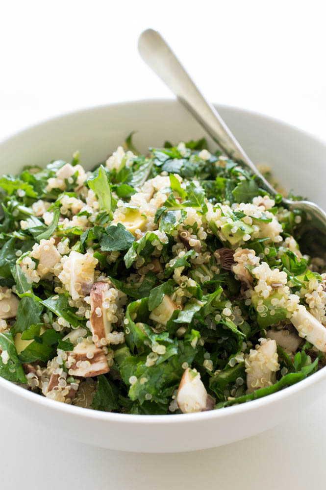 kale quinoa and avocado salad