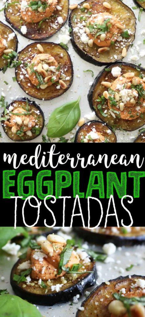 Mediterranean eggplant tostadas
