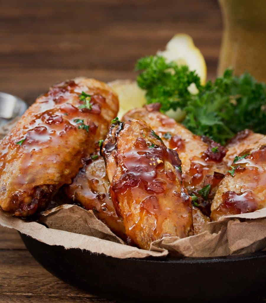 jack daniels glazed baked chicken wings